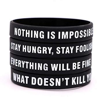 silicone material made motivational bands popular cheap price popular wristbands