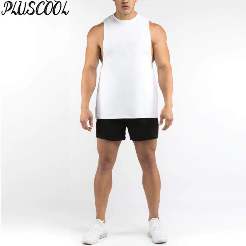 Hot koop heren tank top bodybuilding fitness spier singlet