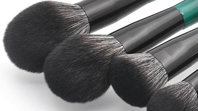 3D Màu Tóc Nhãn Hiệu Riêng 12 Cái Make Up Brush Set Với Tay Cầm Bằng Gỗ
