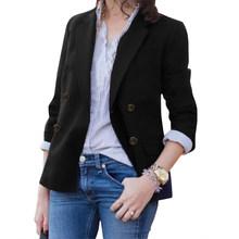 ZANZEA женский офисный блейзер с отложным воротником и пуговицами, мода 2020 года, женские повседневные однотонные куртки, утолщенные карманы, В...(Китай)