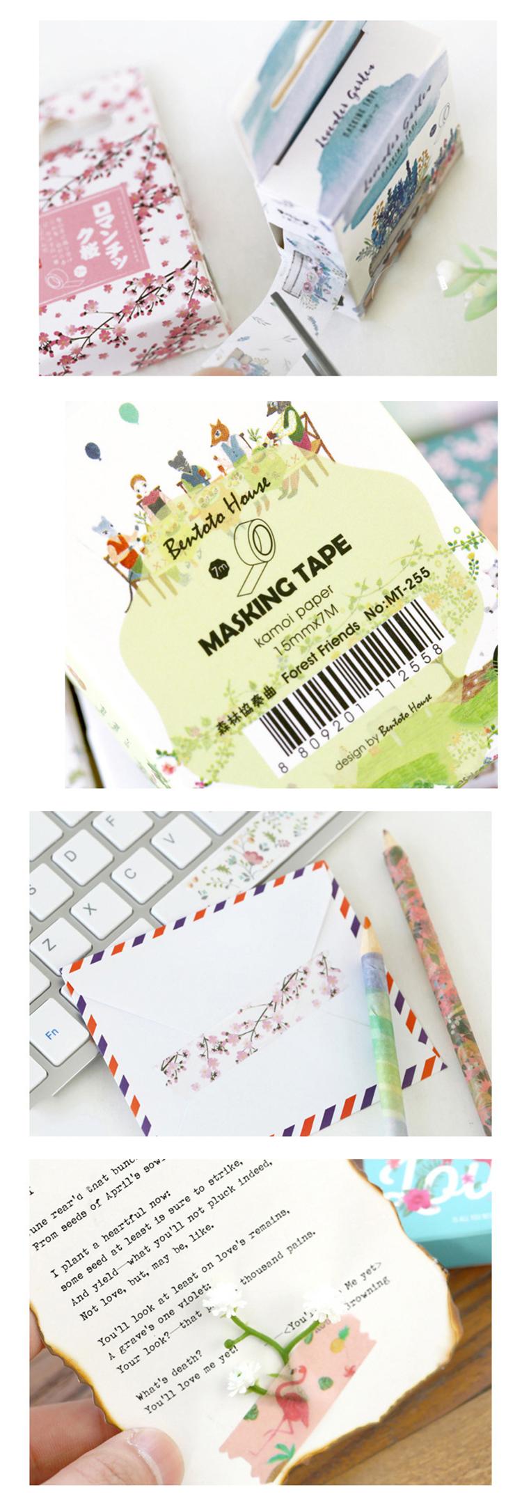 Custom Gedrukt Pastel Washi Tape Masking Washitape