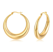 Moda 18k Yellow Gold Filled <span class=keywords><strong>Brincos</strong></span> <span class=keywords><strong>de</strong></span> Aros Grossos Grande Brinco <span class=keywords><strong>de</strong></span> <span class=keywords><strong>Argola</strong></span> Mulheres <span class=keywords><strong>De</strong></span> <span class=keywords><strong>Jóias</strong></span> Em Aço Inoxidável