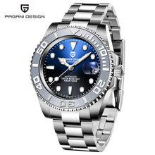 Мужские автоматические часы PAGANI, роскошные механические наручные часы с сапфиром, водонепроницаемые часы из нержавеющей стали, Mekaniska klockor(Китай)
