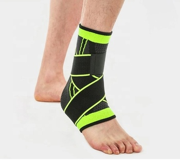 Light weight Double pressure Sports support elastic neoprene orthopedic ankle brace
