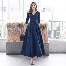 Vestido De Fiesta It's Yiiya BR309 серебристо-серые блестящие длинные элегантные платья для выпускного вечера с v-образным вырезом и рукавом три четверти, ...(China)