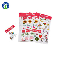 Self Adhesive Paper Labels Printing Custom Kiss Cut Sticker Sheet