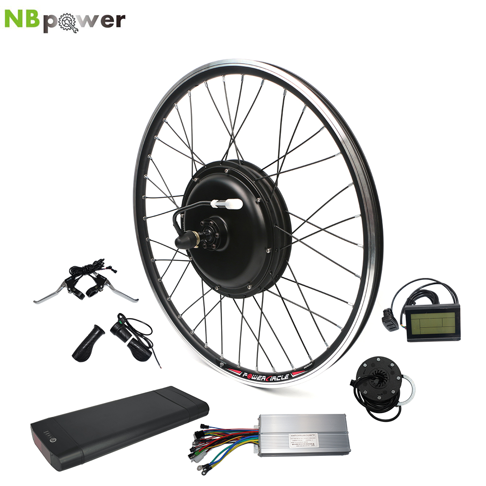 Electric Bike Hub Motor Full Waterproof Cable 350W Electric Bicycle Conversion Kit