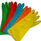 55g kitchen waterproof heat resistant yellow latex gloves manufacturer in CHINA car wash dish washing gloves cheap hand gloves