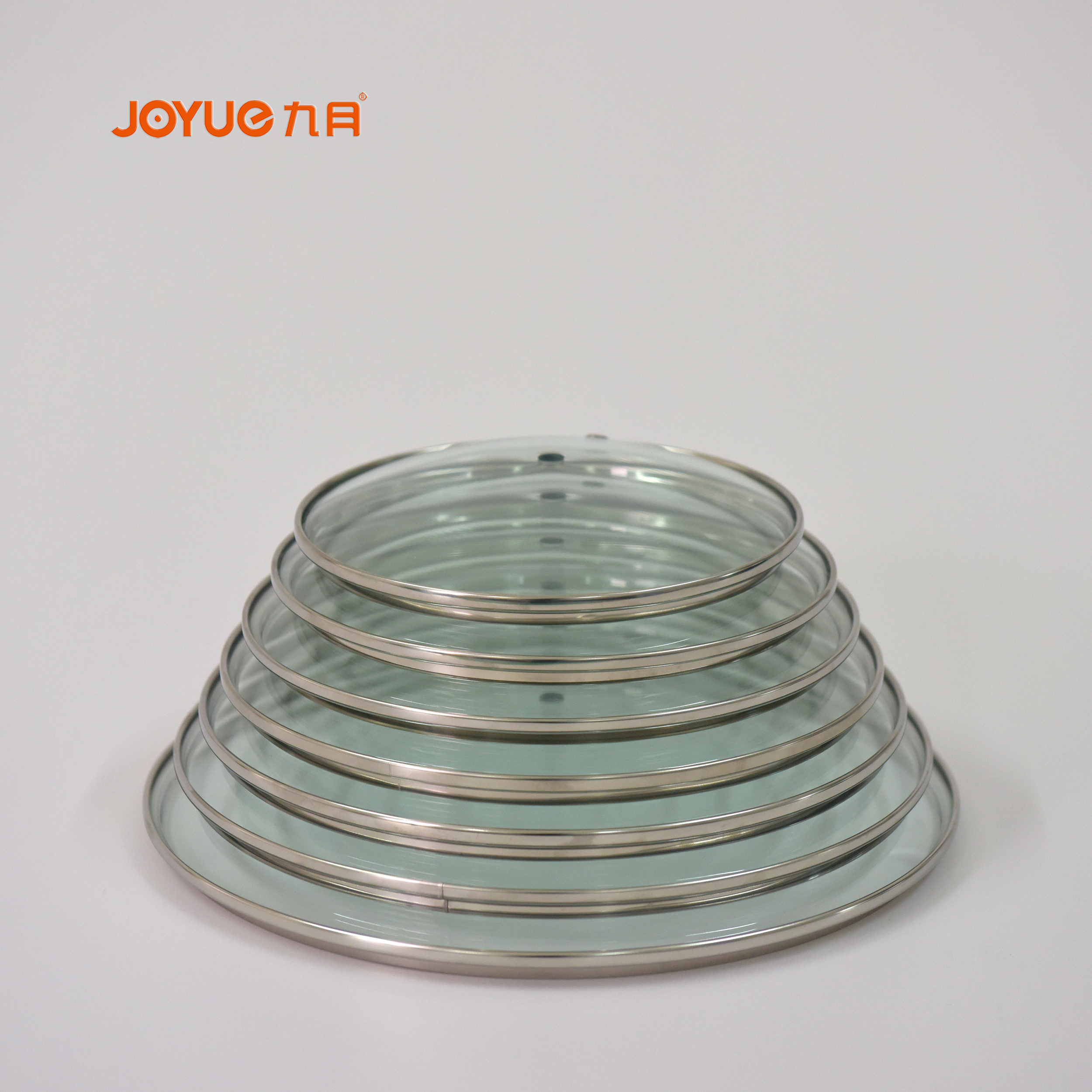 tempered glass cooking pot lid with stainless steel ring