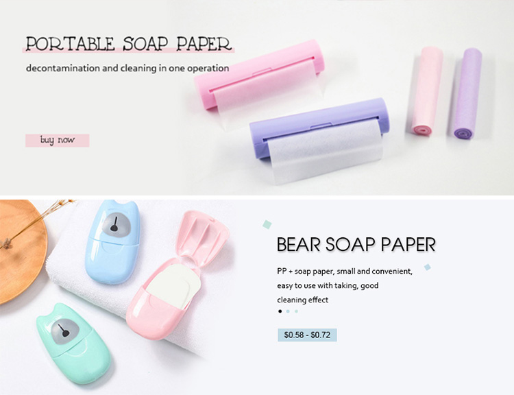 El yıkama temizlik bakım sabun yaprakları seyahat tuvalet kağıt sabun sayfası