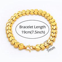Мужской массивный браслет-цепочка, Золотой/Серебряный браслет с цепочкой, ювелирное изделие для мужчин(Китай)