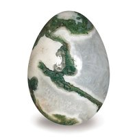 Wholesale Natural Gemstone Wholesale Natural Moss Agate Gemstone yoni Eggs for kegel Exercise crystals healing stones