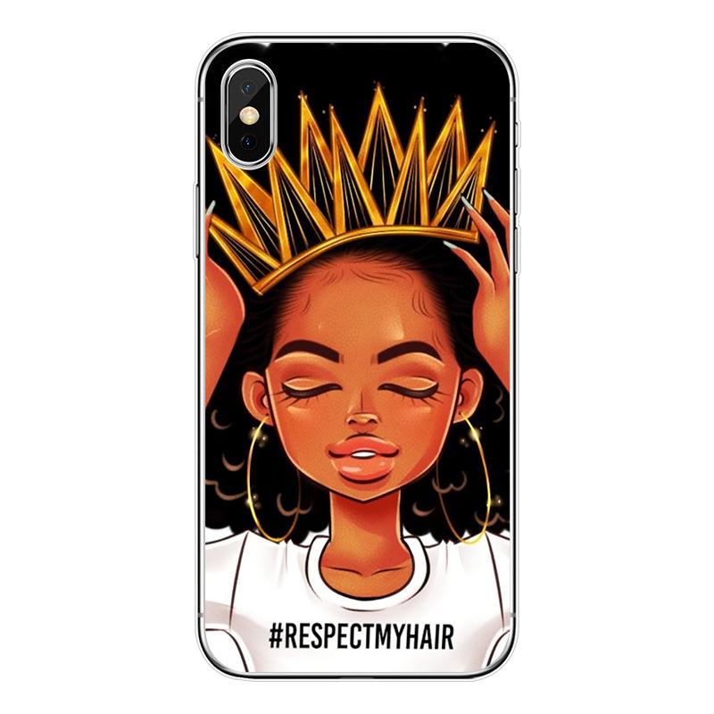 Customizable Black Girl Custom Design Melanin Poppin Tpu Phone