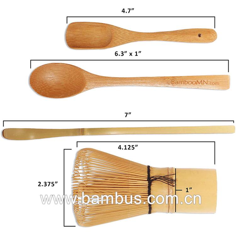 Bianco di bambù organico matcha spazzola per il tè verde