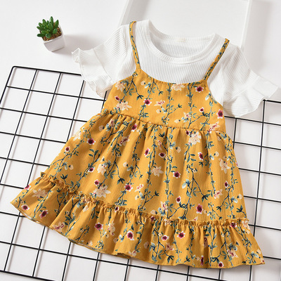 2020newbor summer <strong>girls</strong> dress children princess dress Chiffon Floral turkey clothes Korean <strong>fashion</strong> baby TUTU <strong>girl</strong> frocks <strong>kids</strong>