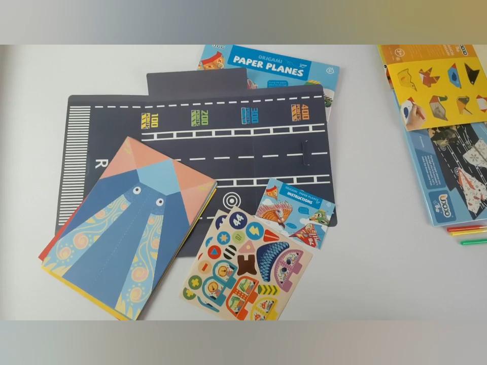Permainan Origami Manual DIY Hewan Warna Perlindungan Lingkungan, Kertas Lipat 3D Satu Sisi