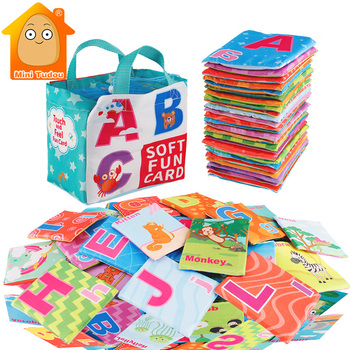 26PCS Soft Alphabet Cards Infant English Reading Books Educational Flashcards Learning Resource Baby Cloth Book Toy