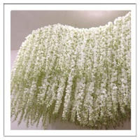 Wholesale Artificial hanging wisteria silk flower length 120cm for wedding decoration