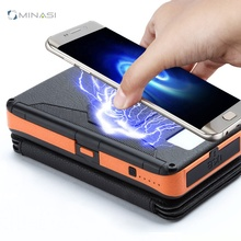 Usb <span class=keywords><strong>Bulk</strong></span> <span class=keywords><strong>Kopen</strong></span> Rugzak Vouwen Qi Ce Fcc Rohs Waterdichte Draadloze Solar Draagbare Mobiele Telefoon Powerbank Power Bank Oplader