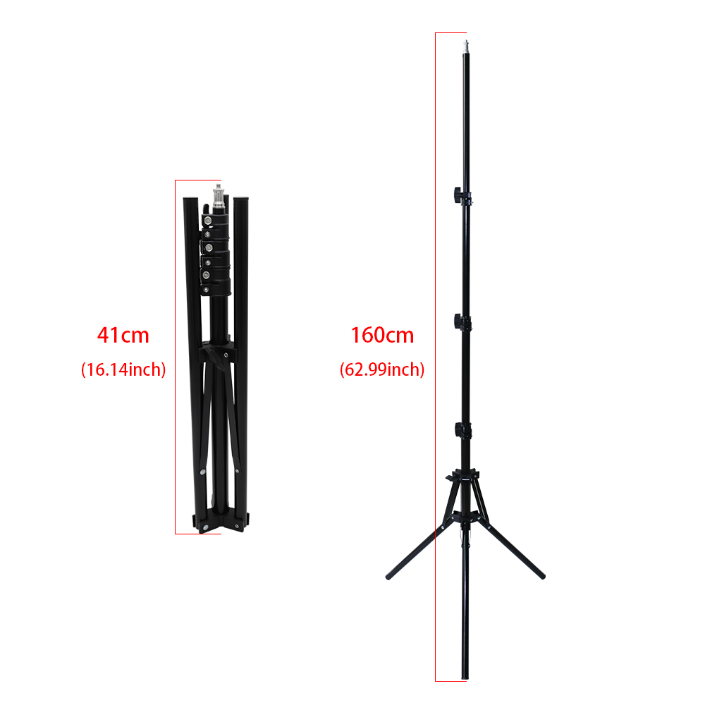 Factory wholesale 14 inch 36cm LED Ring Light With Reverse Folding 1.6 Meters Tripod For Photographic/Makeup/Live Broadcasting