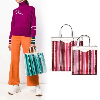 New designer pvc tote bag latest fashion trend jelly bags elegance ladies clear handbag purse 2019