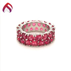 Engagement Jewelry Silver Rings For Women 925 Silver Jewelry Ring With Created Ruby For Women Rg86517cs-1