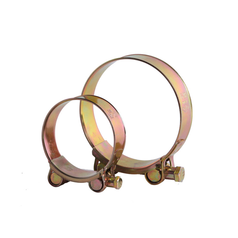 super quality zinc yellow plated unitary bolt heavy duty hose clamp
