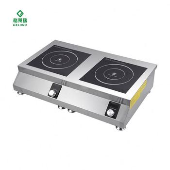 2 Zone Two Burner One Pc Induction Cooktop With Ce Certificate