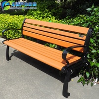 cheap Recycled Outdoor Plastic camphor wooden slats bench chair for park garden street benches frame legs Malaysia kmart