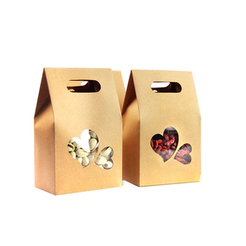 Shenzhen oem hot sale cheap paper packaging kraft brown paper food bag