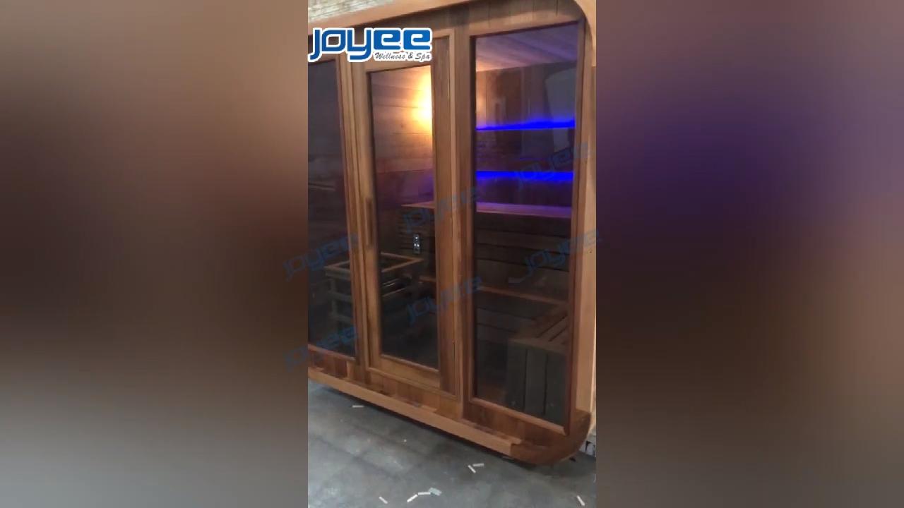 Joyee Tradisional Mewah Indoor Outdoor Finlandia Cedar Kering Basah Ruang Sauna Kayu Sauna untuk Dijual