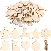 2019 many shapes nature wood wooden craft hanging decoration for Christmas Halloween Home ornament