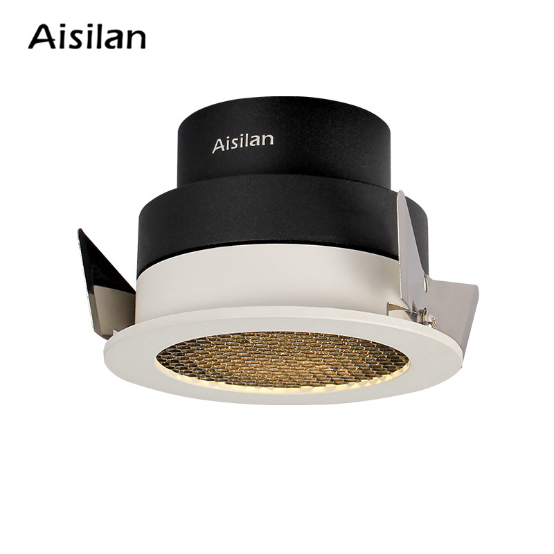 europe standard ultra thin iluminacin dormitorio 4000k honeycomb recessed spot downlight dimmable