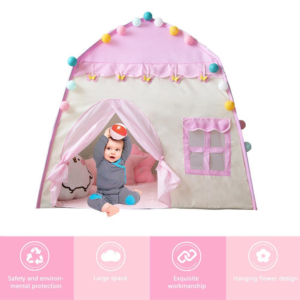 Игровой дом под тентом игровой дом 3-4 Детская игрушка для дома для девочек подарок на день рождения палатка и опорный стержень в наличии(Китай)