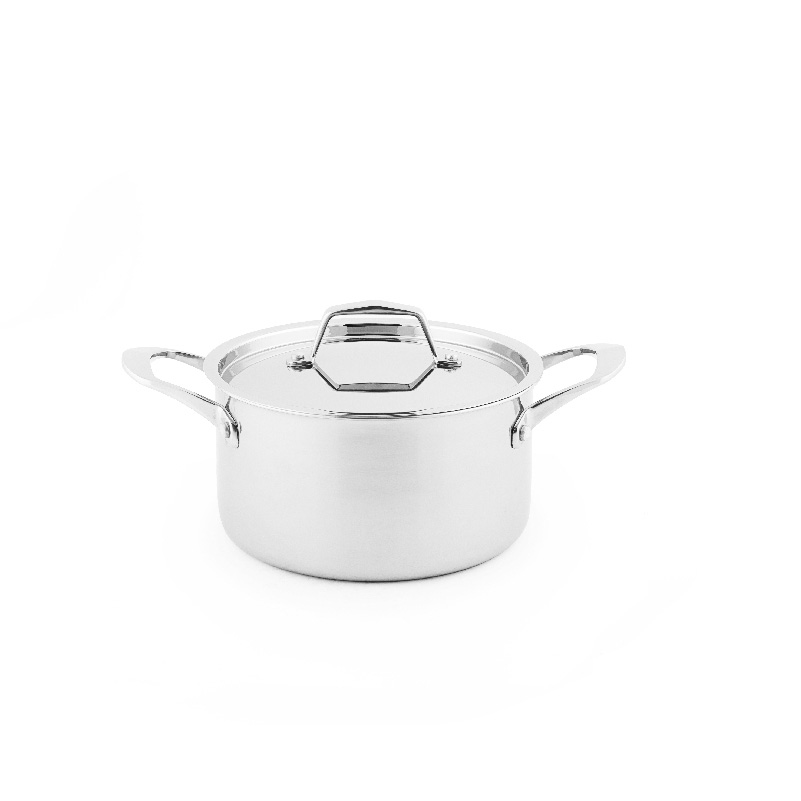 new design 20cm tri-ply small kitchenware stainless steel stock pot