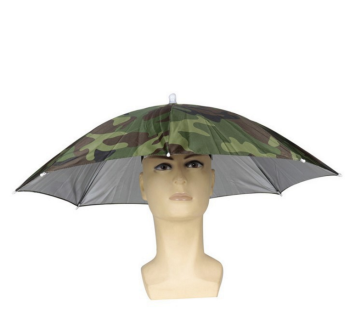 Umbrella Hat for Hunting & Fishing promotional customized logo