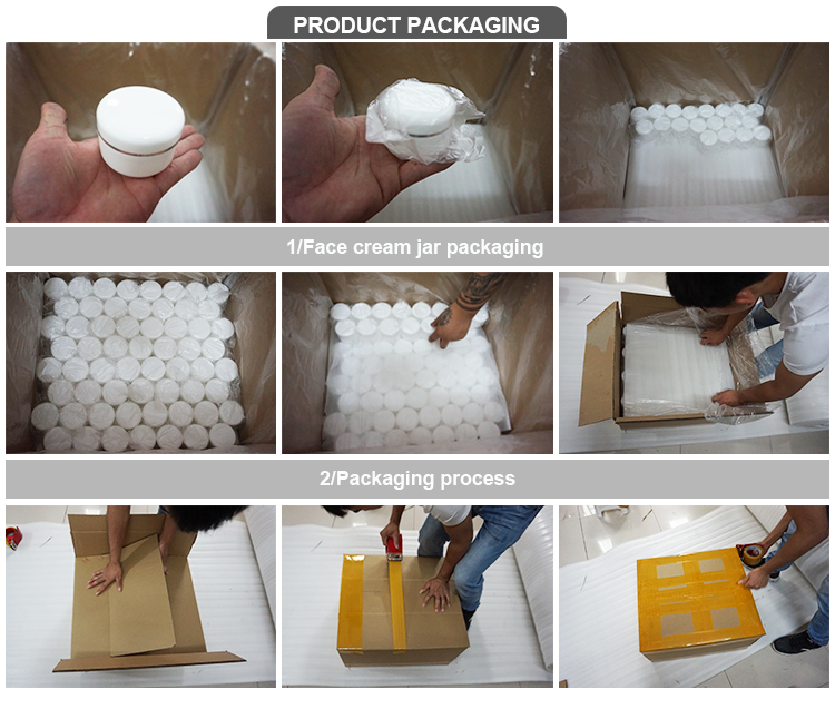 Latest packing containers products 20g 30g 50g cosmetic facial mini amber glass jars for cream