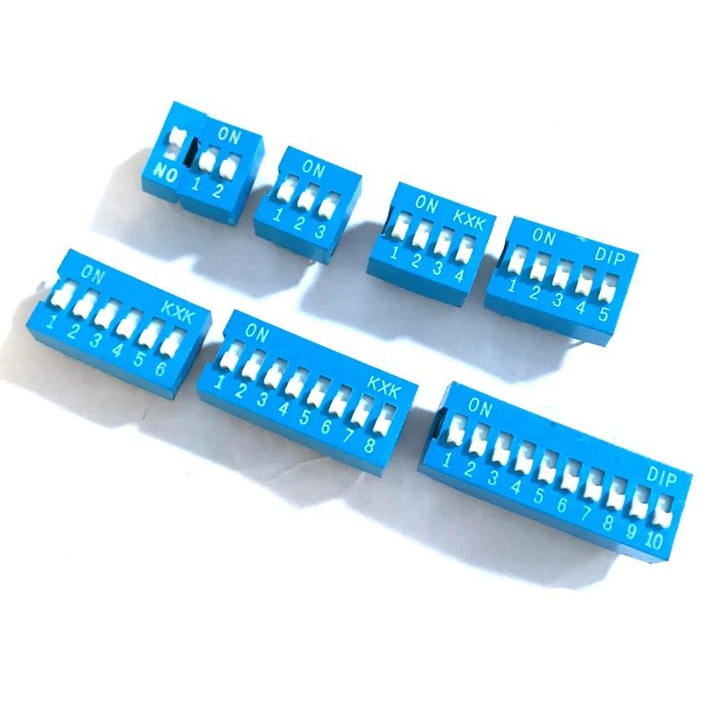 Slide Type Switch Module 1 2 3 4 5 6 7 8 10 PIN 2.54mm Position Way DIP Pitch Toggle Switch Blue Snap Dial Switch