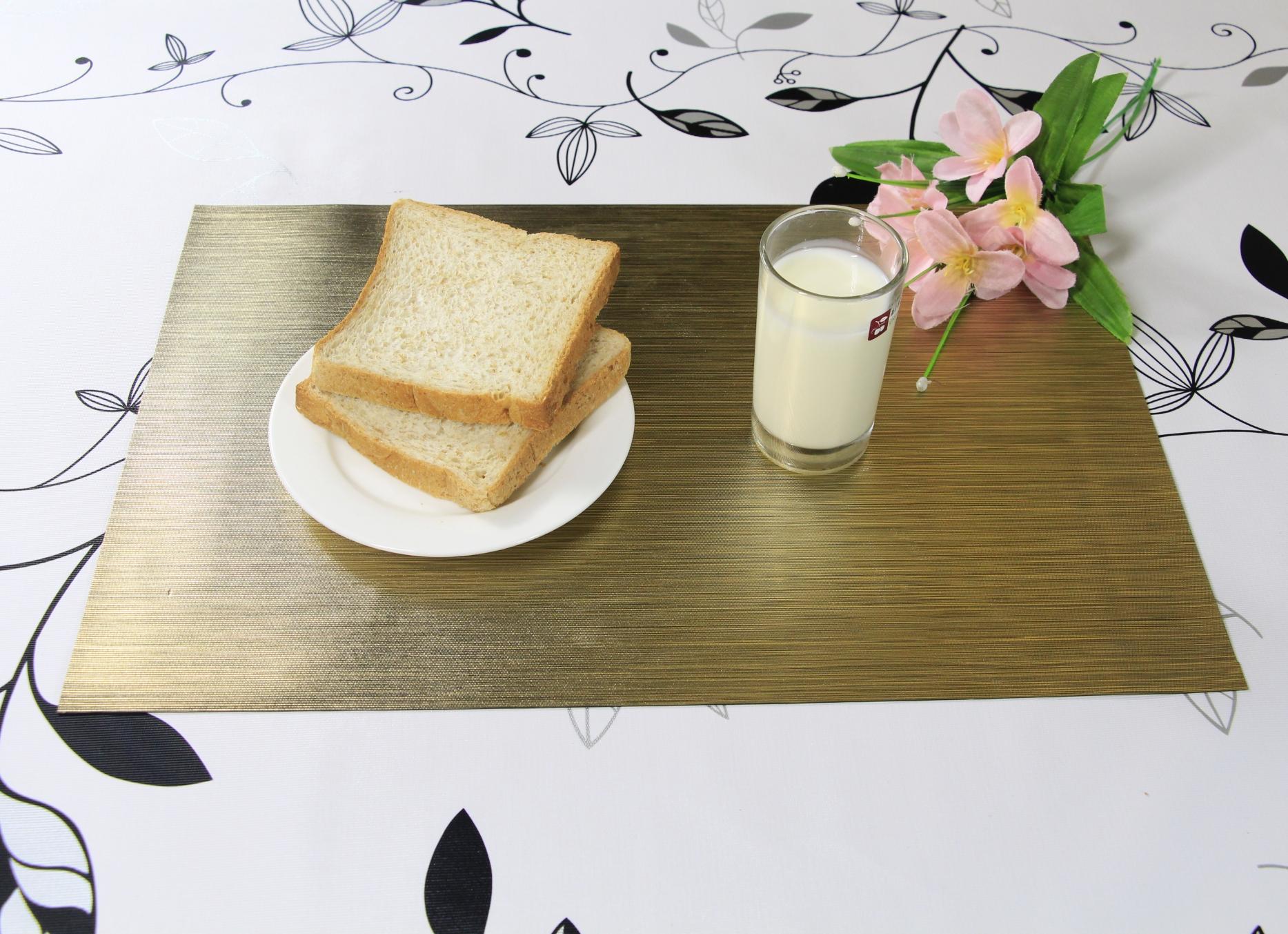 長方形の耐熱ランチョンマットダイニングテーブルマット