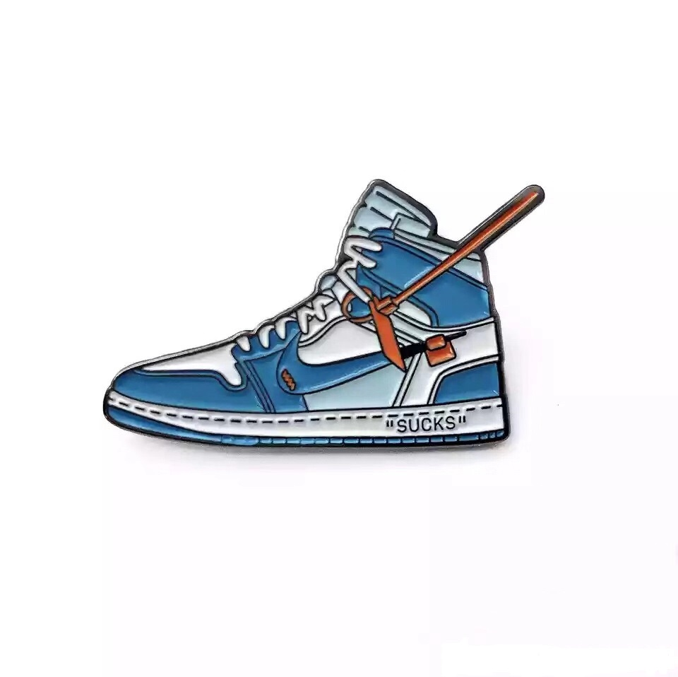 hot sell wholesale factory price <strong>metal</strong> funny directly Custom sporting enamel Sneaker lapel pin