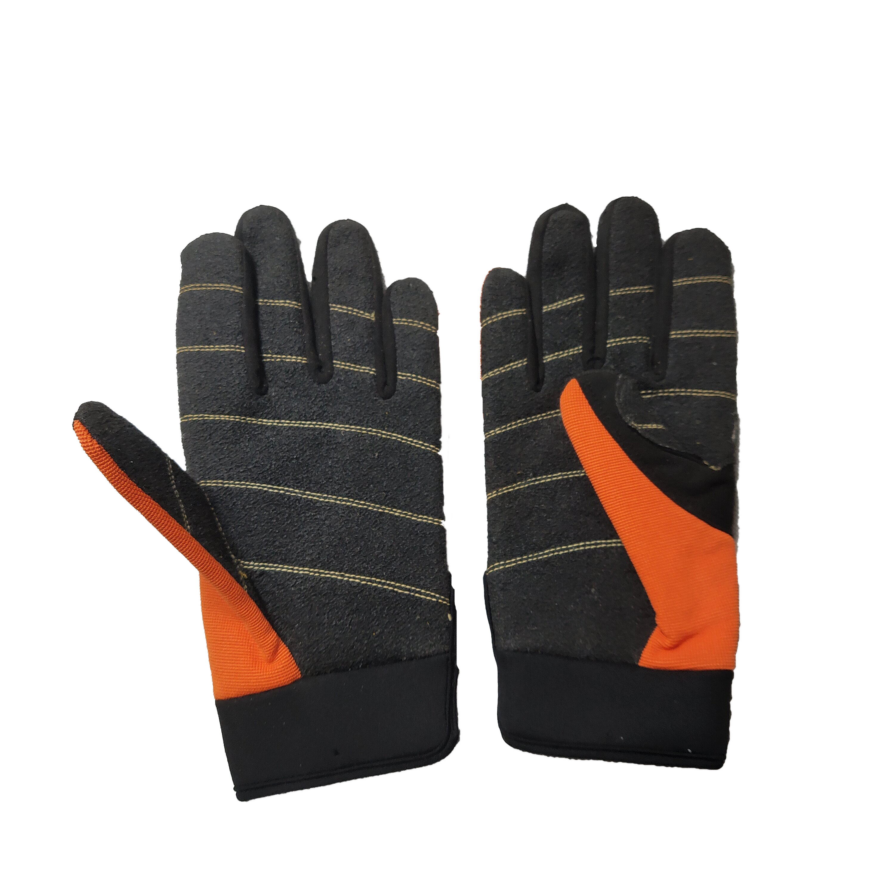 Wingter Durable Crinkle palm Ottoman Knitted Anti Skid Mechanical safety working Gloves