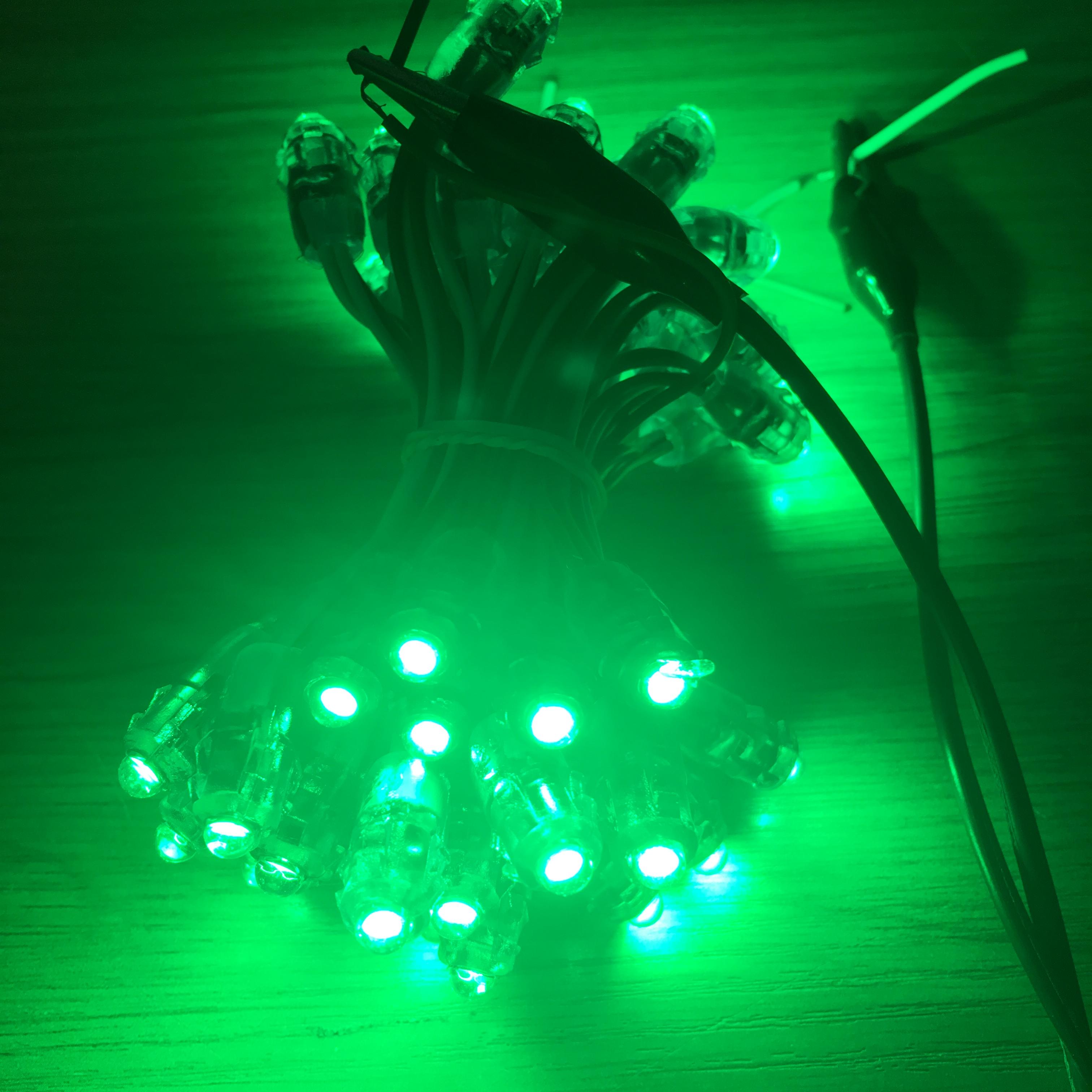 Custom length Factory Price led pixel F5 straw hat pixel light white green IP65 DC5V 12V 24V