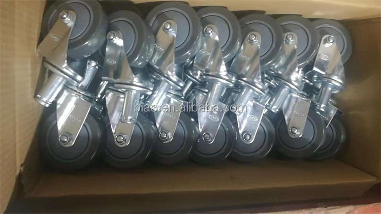 4inch Hand Box New PU Castor Wheels