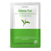 Private Label Skin Care Facial Mask Green tea Anti-oxidation and Moisturizing Face Sheet Mask