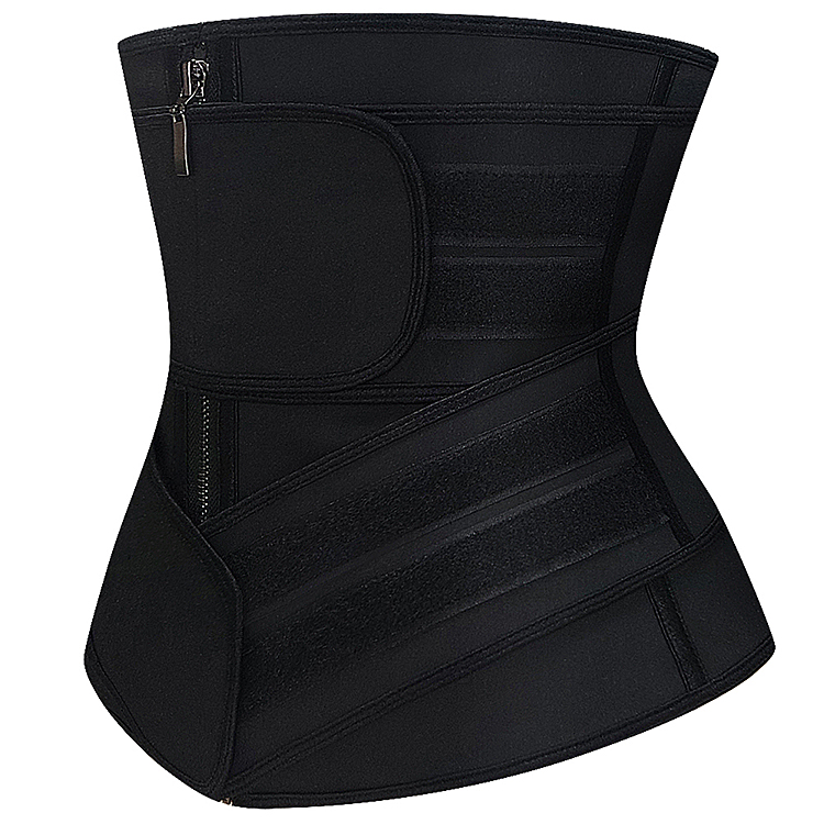 9 Steel Boned Latex Waist Trainer Slimming For <strong>Weight</strong> <strong>Loss</strong> Women Two strap <strong>Corset</strong>