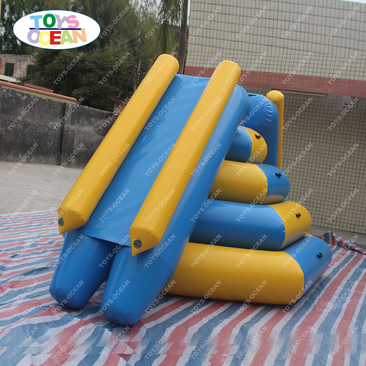 Water park combo inflatable yellow slide for outdoor swimming pool toys