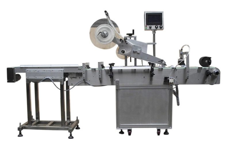 automatic carton paper plastic bag flat labeling machine.png
