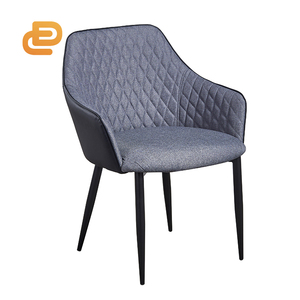 High quality modern Luxurious fabric dining chair high-class restaurant VIP chair high back Soft fabric chair with armrest