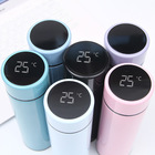 LED Temperature Display Smart Vacuum Flask Double Wall Stainless Steel Thermal Smart Water Bottle