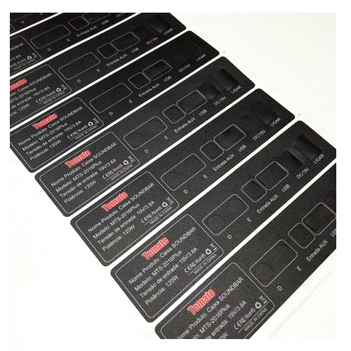 High quality Custom electric packaging labels,Adhesive PET PVC PC 3M Sticker for control touch panel switch dashboard